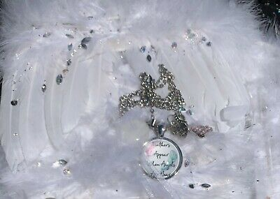 Code 585 Feathers Appear When Angels Are Near Infused Necklace Quartz Rhines