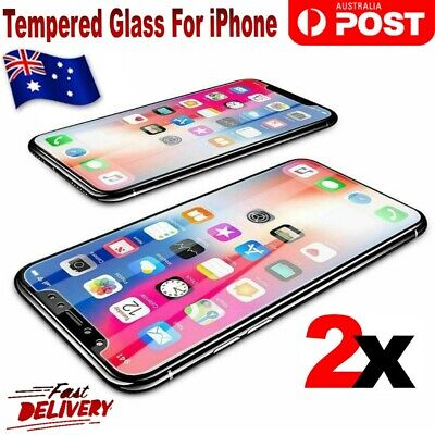 2x Tempered Glass Anti Scratch Screen Protector For Apple iPhone X 7 8 6Plus 5 4