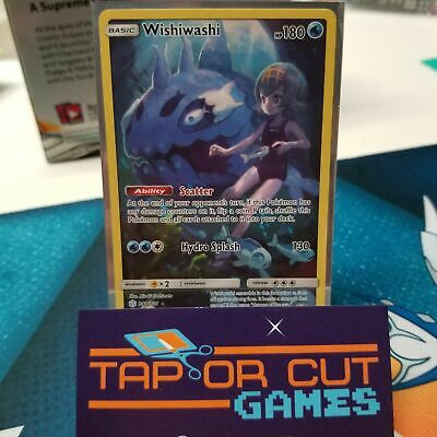 Wishiwashi Trainer Art - Pokemon Secret Rare - Cosmic Eclipse 240/236