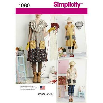 Simplicity Pattern 1080 Misses' Dress or Tunic Dottie Angel XS - XL