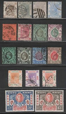 Hong Kong - Early Group to George VI, Values to $2 (2 scans)