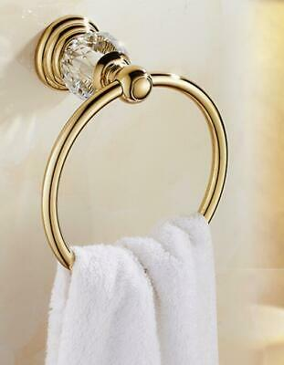 Wall Mounted Bathroom Accessory Tissue Holder Towel Ring Chrome Gold Brass New