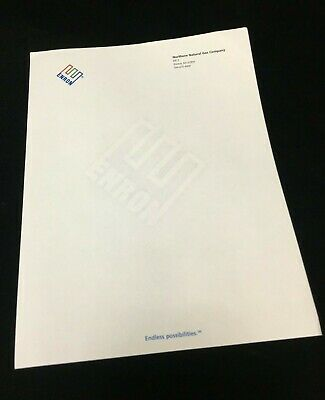 Enron Authentic Color Letterhead Embossed With Logo address, ph, Kismet KS