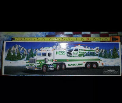 1995 Hess Gasoline Toy Truck and Helicopter New in Box Collectible Lights Work