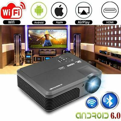 4200LMS Android WIFI Home Cinema Projector Bluetooth Miracast Movie HD 1080P USB