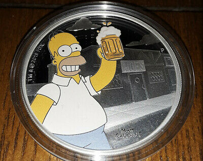 2019 Tuvalu The Simpsons Homer Simpson 1 Oz. Silver Coin FREE SHIPPING!!!