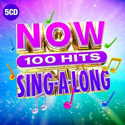 NOW 100 HITS SING-A-LONG (Various Artists) 5 CD Set (2019) (New & Sealed)