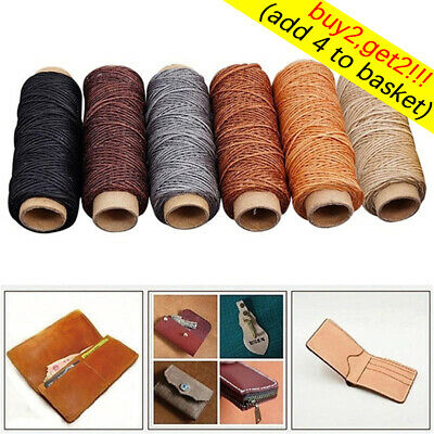 Waxed Thread Cotton Cord String Strap Hand Stitching Thread for Leather Tool