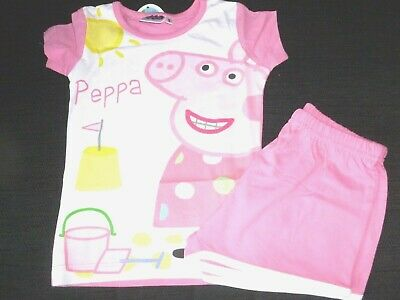 Girls Peppa Pig Light  Pink Short  Pyjamas age 3 Years nwt