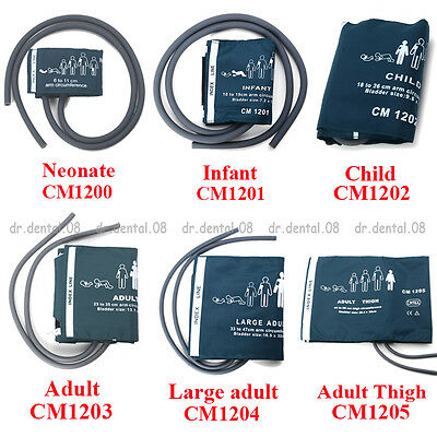6 Types Double Tube Adult /Child /Infant/Neonatal/ Blood Pressure Monitor Cuff