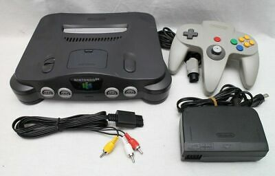 Nintendo 64 Charcoal Grey Console  All cords 1x Controller Canadian seller