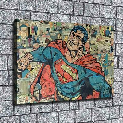 "12""x18""Anime superman HD canvas photo home decor wall art painting poster photo"