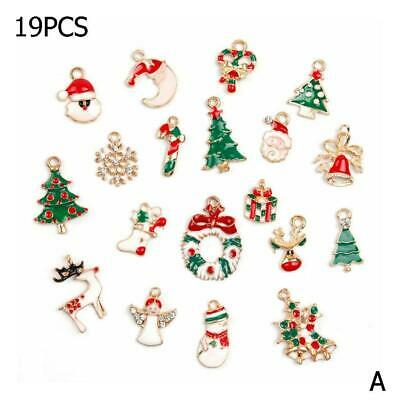 19Pcs/Set Metal Alloy Mixed Christmas Charms DIY Pendant New Home Ornament
