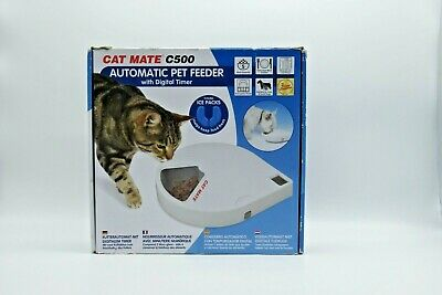 Cat Mate C500 Automatic Pet Feeder With Digital Timer - White