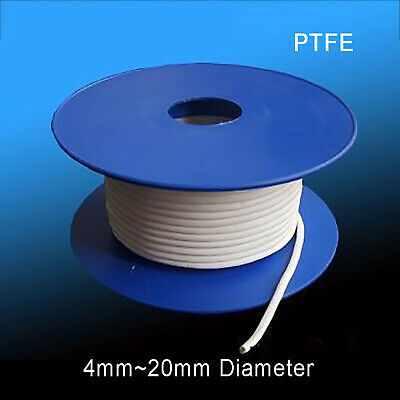 1Kg Round PTFE Gland Packing Elastic PTFE Sealing Strip Oil-Free 4/5/6/8/10~20mm
