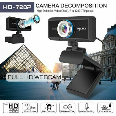 HD 720P Webcam Web Cam Desktop Camera w/MIC for Computer Mac Windows Live PC TV