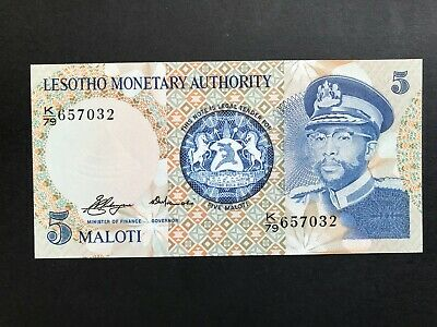 Lesotho 5 Maloti issued 1979 P2a aUncirculated aUNC to UNC