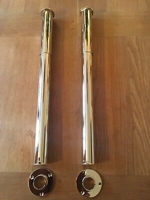 Stunning Solid Brass Antique Gold Bath Tap Free Standing Legs For Roll Top Bath