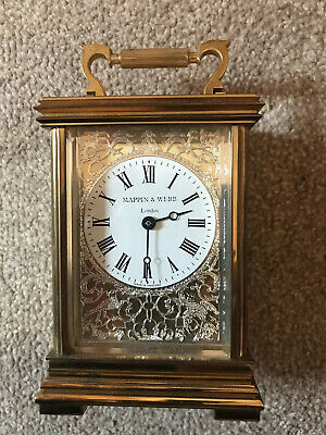 MAPPIN AND WEBB OF LONDON Solid Brass Carriage Clock well Made . Very Heavy.