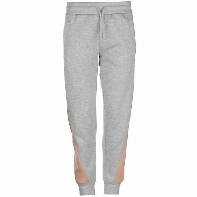 LA Gear Cut and Sew Jogging Pants Ladies Grey/Rose UK Size 16(XL) VR234 023