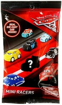 Disney Pixar Cars 3 Realy Die Cast Mini Racers Mystery Blind Pack - New