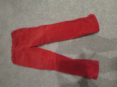 Mothercare Girls Red Corduroy Trousers Age 4-5