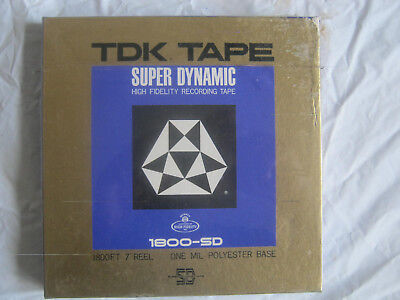 TDK Super Dynamic High Fidelity Recording Reel to Reel Tape