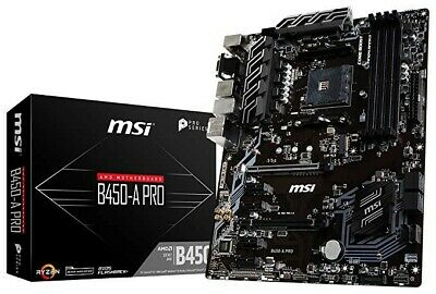 MSI B450-A PRO AM4, AMD Motherboard with Kingston 2x4GB RAM and Ryzen 5 2600 CPU