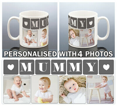MUMMY PHOTO MUG Personalised Birthday Gift Best Mum Cup Mammy Mommy Mothers Day