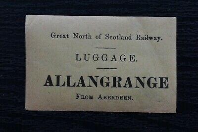 Great North of Scotland Railway Luggage Label - GNSR ABERDEEN to ALLANGRANGE
