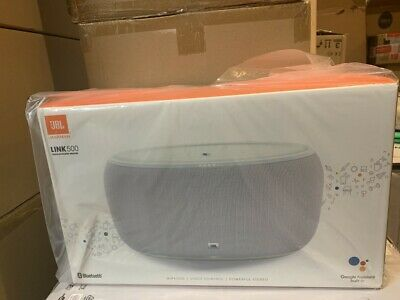 JBL LINK500WHTUS Link 500 Bluetooth Smart Speaker with Google Assistant New