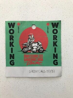 Logic Concert Crew Pass/ Working Badge - Confessions of a Dangerous Mind Tour