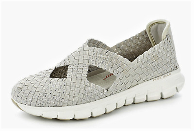 Skechers Synergy Stretch Weave Memory Foam Mary Jane Natural