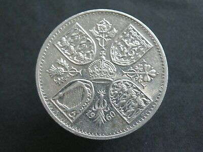 1960 New York Exhibition Polished Dies - Five Shilling Crown Coin (Os01)