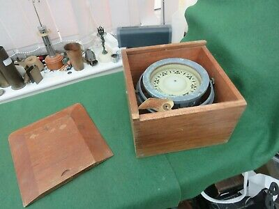 """Vintage Sestrel 4"""" Ships Boat Compass On Gimbals In Fitted Wooden Box"""