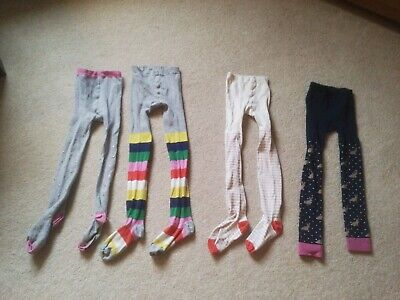 Four Pairs Of Girls Tights From Mini Boden Age 6-7 Years. One New.