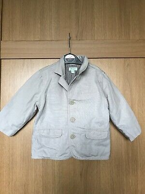 Baby Boys Beige Smart Suit Jacket - Party Occassion Wedding - 12/18 Monsoon