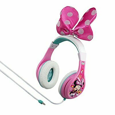 eKids Minnie Mouse Wired Headphones - Pink/White