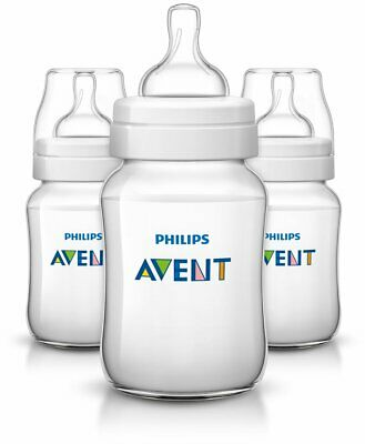 Brand New Philips Avent 9 oz. Anti-Colic 3-Pack Bottles in Clear