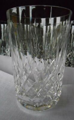 Waterford Crystal Set of 2 Lismore Old Fashioned Highball Glass Tumbler Signed