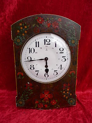 Beautiful, Old Pendulum Clock, Wood Painted, Gustav Becker