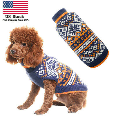 Christmas Dog Sweater Pet Knitwear Puppy Sweaters Apparel For Small to Large Dog