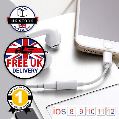 Lightning to 3.5mm Headphone Cable Jack AUX Audio Adapter iPhone 11 Pro X XS 8 7