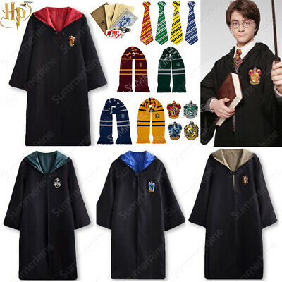 Harry Potter Gryffindor Cape Cloak Tie Halloween Cosplay Party Costume COS Xmas
