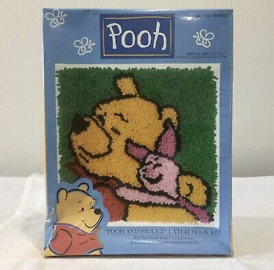 Caron Latch Hook Kit Pooh And Piglet 33cm x 33cm WP002 Made In USA