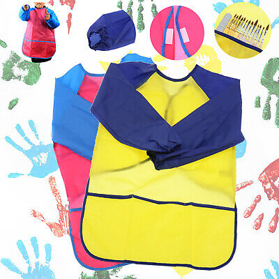 Children Art Craft Waterproof Long Sleeve Smock Apron For Painting Cooking M