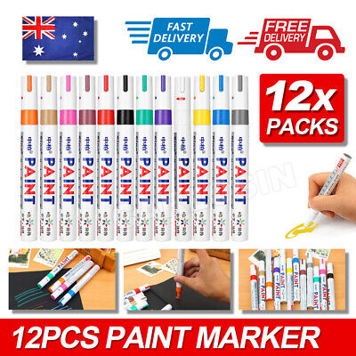 12 Colors Set Rubber Permanent Paint Marker Pens Car Tyre Tread Waterproof DIY
