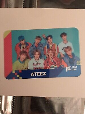 Ateez Kcon La 2019 Transparent Photocard