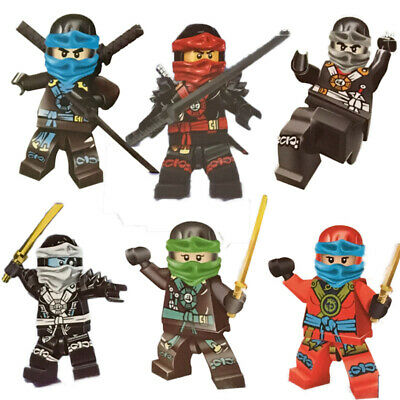 Ninjago Toy Boys Ninja Mini Figures 6 pcs Fit with Lego Boxed Separetly