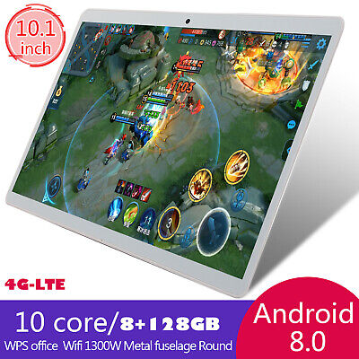 "10.1"" para la Tableta de Android 8.0 Ten-Core 8+128GB WIFI 13.0MP Phone Call PC"